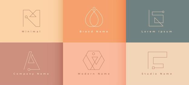 Minimale logo-designs für ihr unternehmen