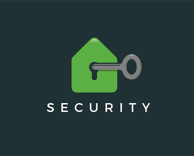 Minimale logo-vorlage für die sicherheit von zu hause