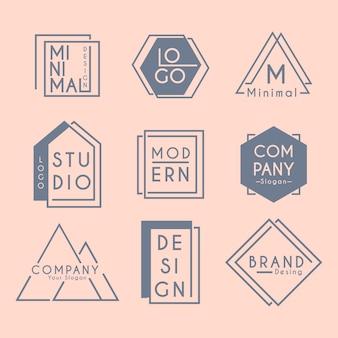 Minimale logoelement-kollektion in zwei farben