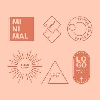 Minimale logoelementkollektion in zwei farben
