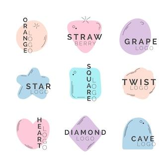 Minimale logos in pastellfarben