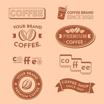 Minimale logosammlung in zwei farben