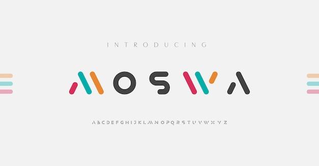 Minimale moderne alphabet-schriftarten.