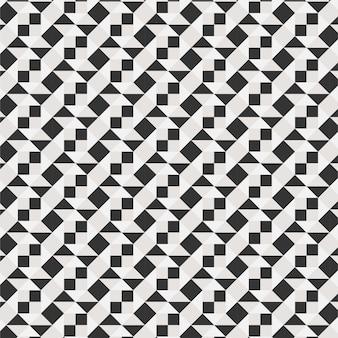 Minimale moderne grafische musterdreiecklinie 3d der diamantfliese vektor-musterfarbe schwarzweiss
