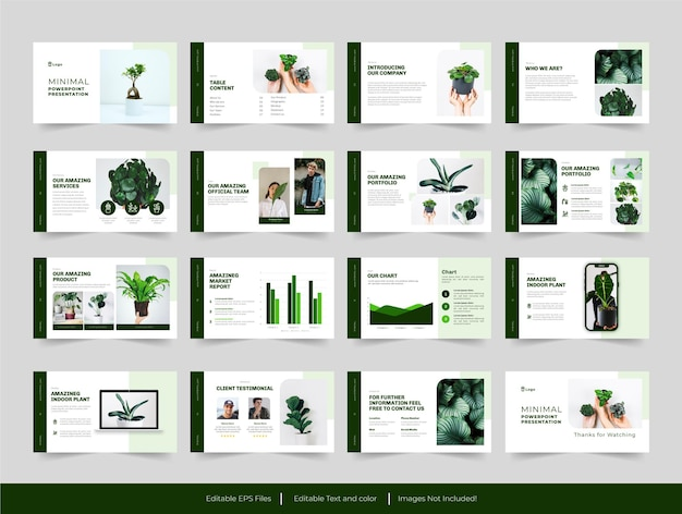 Minimale moderne grüne folienvorlage