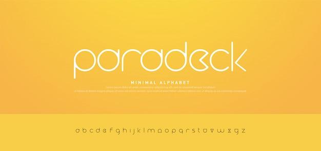 Minimale moderne städtische alphabetschriftarten der typografie