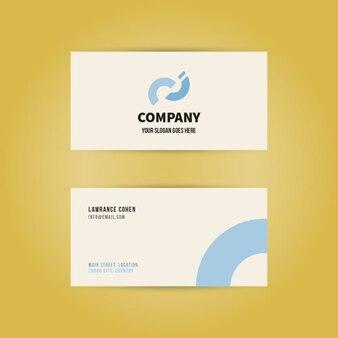 Minimale moderne visitenkarte mit zahnklinik logo