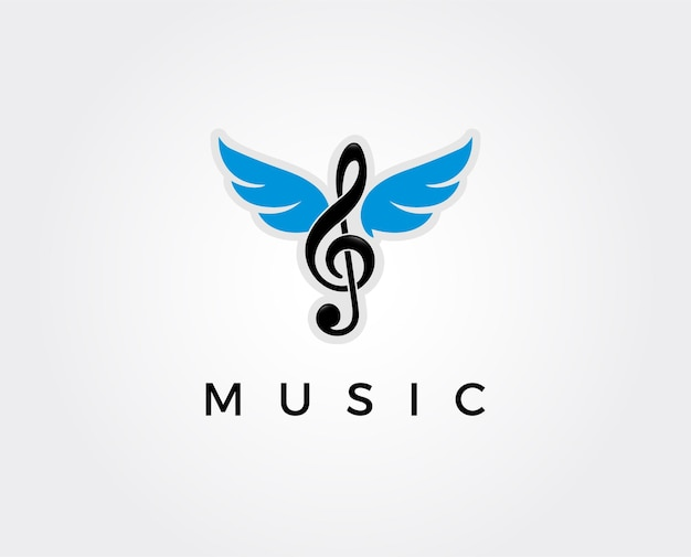 Minimale musik-logo-vorlage