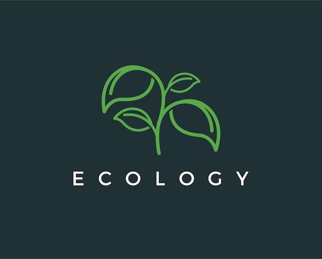 Minimale ökologie-logo-vorlage