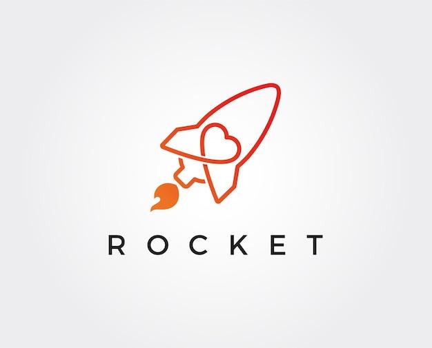 Minimale rakete-logo-vorlage