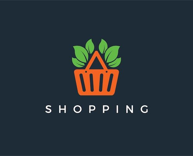Minimale shopping-logo-vorlage