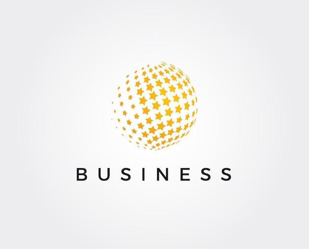 Minimale star world logo-vorlage
