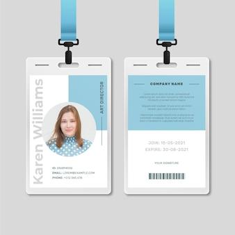 Minimale stil id-karten vorlage