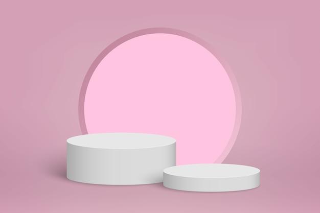 Minimale szene mit podium, kosmetischer produktpräsentationshintergrund