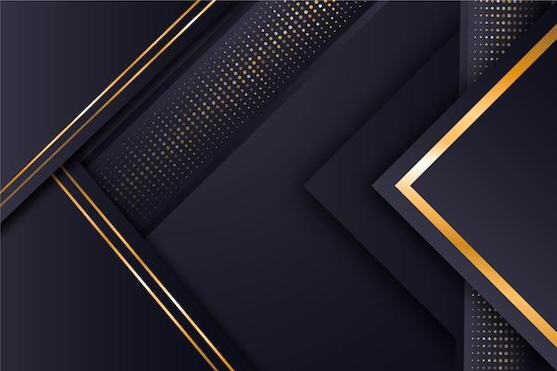 Minimale tapete mit goldenen details