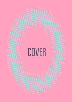 Minimale trendige cover-vorlage. futuristisches layout mit halbtönen. geometrische minimale cover-vorlage für buch, katalog und jahrbuch. minimalistische bunte farbverläufe. abstrakte geschäftsillustration.