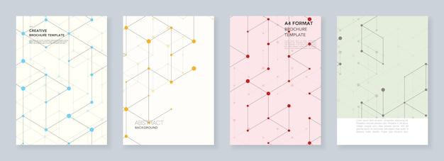Minimale vorlagen für flyer, faltblätter, broschüren, berichte, präsentationen.