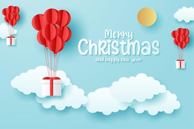 Minimale weihnachtskarte