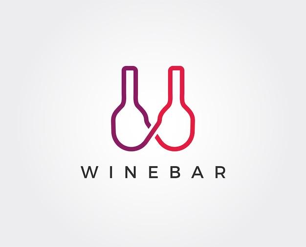 Minimale wein-logo-vorlage