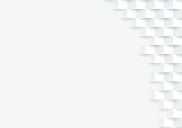 Minimaler 3d weißer quadratischer fliesenhintergrund