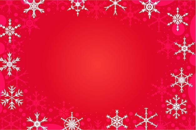 Minimaler abstrakter roter weihnachtshintergrund mit geometrischen schneeflocken