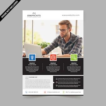Minimaler business-flyer