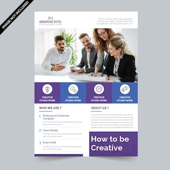 Minimaler business-flyer.