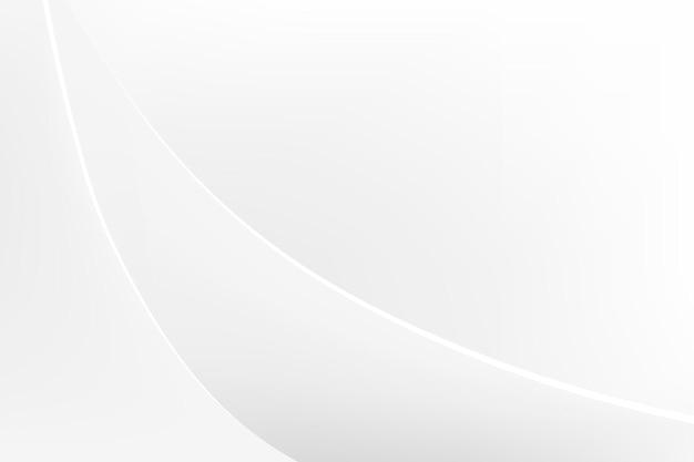 Minimaler desktop-hintergrund, weißer abstrakter designvektor