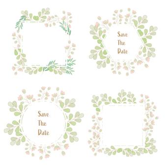 Minimaler flacher artgrasblumen-frühlingskranz