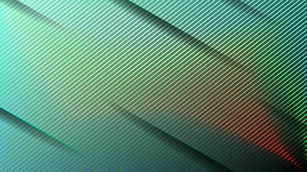 Minimaler geometrischer abstrakter lebendiger farbhintergrund. futuristischer designverlauf mit streifen. abbildungen