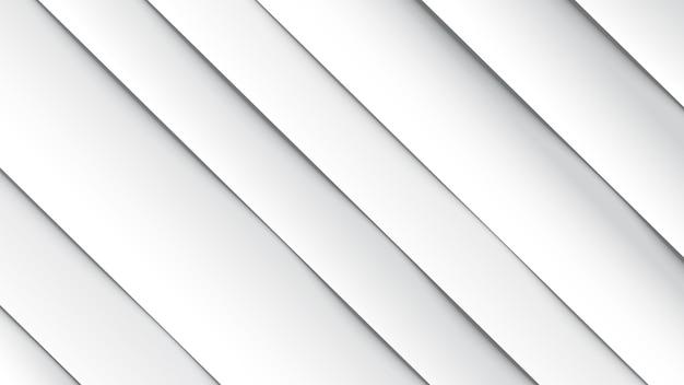Minimaler geometrischer abstrakter weißer hintergrund, papiereffekt. futuristischer designverlauf mit streifen. abbildungen