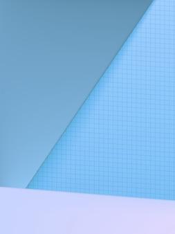 Minimaler geometrischer hintergrund für studioaufnahmen für die produktanzeige, monochrom hellblau.