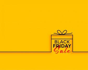 Minimaler Hintergrund des schwarzen Freitag-Geschenkverkaufs