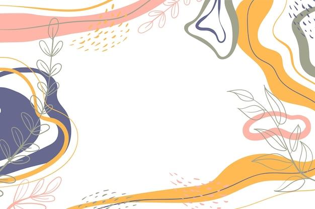 Minimaler hintergrund im handgezeichneten stil