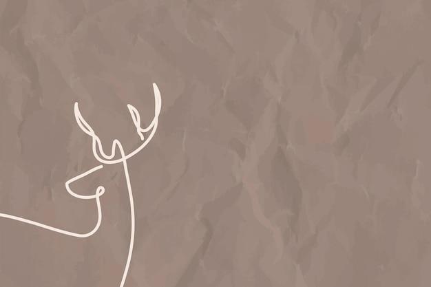 Minimaler hirschhintergrund, ästhetischer designvektor