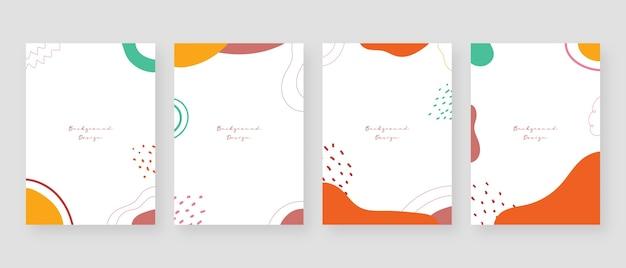 Minimaler konzepthintergrund. abstrakte memphis-hintergründe mit kopierraum für text.
