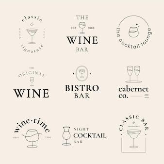 Minimaler lounge-logo-vorlagen-vektorsatz