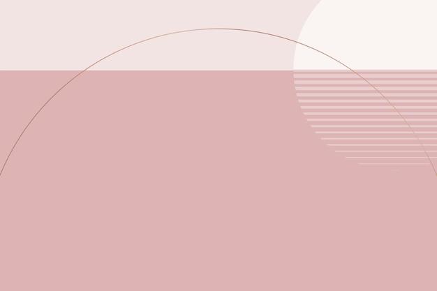 Minimaler mondhintergrundvektor im nordischen stil in nacktem rosa