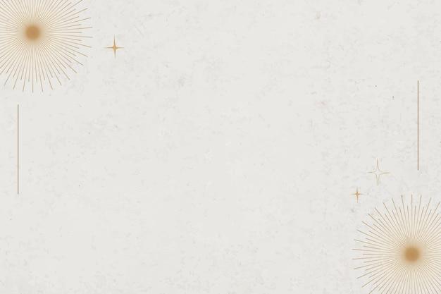 Minimaler mystischer hintergrundvektor mit goldburstgrenze