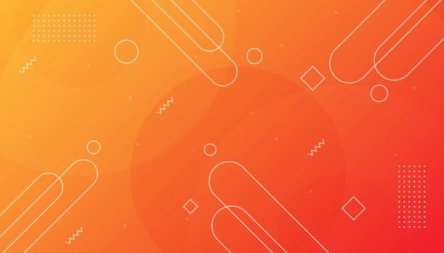 Minimaler orange geometrischer hintergrund