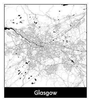Minimaler stadtplan von glasgow vereinigtes königreich europa
