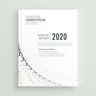 Minimaler stil business broschüre design