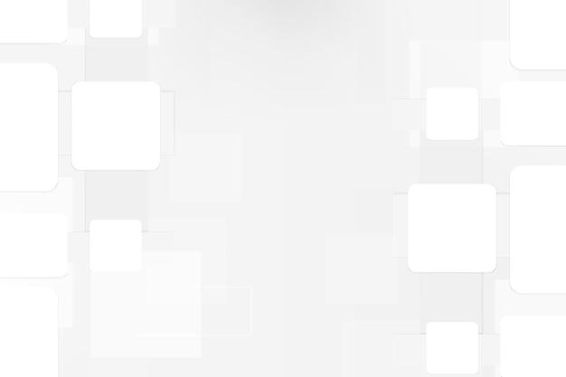 Minimaler weißer musterdesignvektor des desktophintergrundes