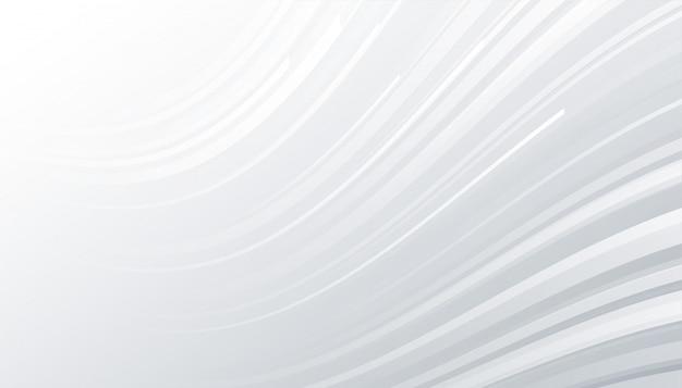 Minimaler weißer und grauer hintergrund mit wellenlinien