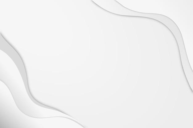 Minimaler wellenhintergrundvektor im weißen abstrakten stil