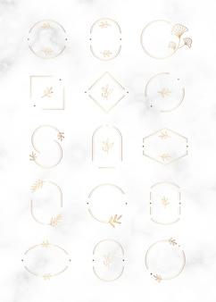 Minimales botanisches abzeichen-design