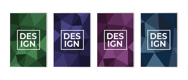 Minimales cover-design-set abstrakter polygonaler hintergrund