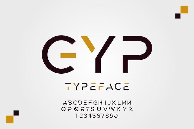 Minimales design alphabet konzept
