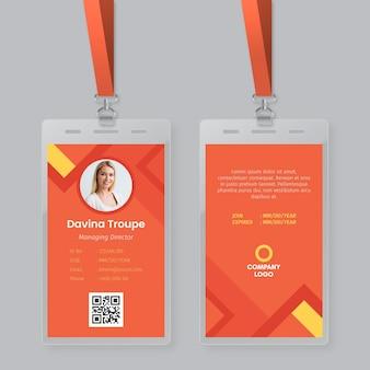 Minimales design der id-kartenvorlage