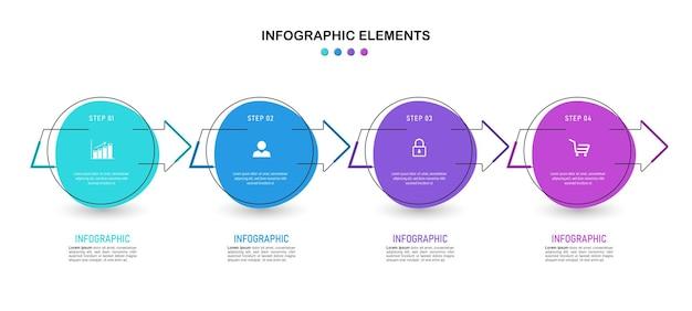 Minimales design der infografik-vorlage.